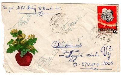Những phong bì thư của chiến sĩ Việt Nam do lính Mỹ thu được ở chiến trường